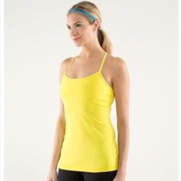lululemon Power Y Tank Top Sizzle Yellow Size 6